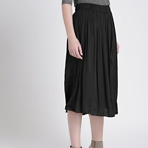 Gap Black Pleated Midi Skirt Size XS